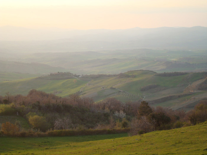 View on the Maremma from Podere Santa Pia