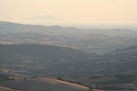 View from Podere Santa Pia on the Valle d'Ombrone