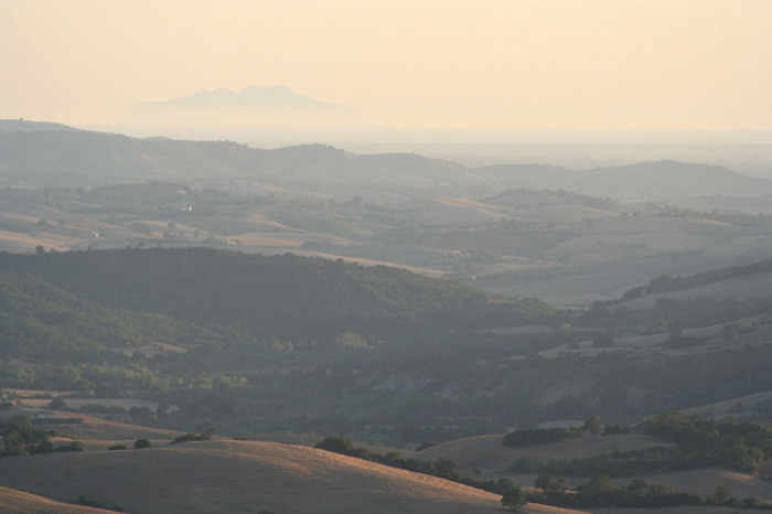 Podere Santa Pia, with an incredibla view on the Tuscan Maremma