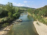 Il fiume Ombrone nei pressi della frazione di Sasso d'Ombrone