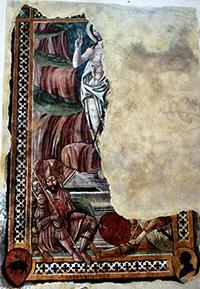 Resurrezione di Cristo (1477), affresco di scuola senese, Chiesa di San Michele Arcangelo, Sant'Angelo in Colle