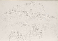 Joseph Mallord William Turner, drawing, Florence to Orvieto Sketchbook, Tate Gallery, London