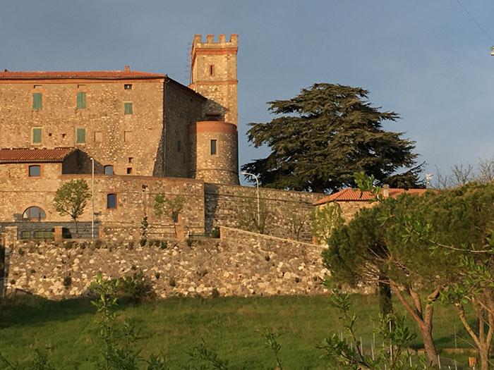 Castiglioncello Bandini,the castle Castiglion del Torto